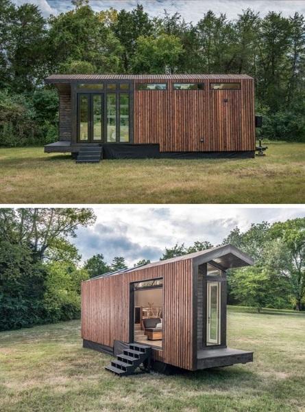 lambriu lemn exterior casa container metalic