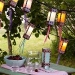 lampadare decorative confectionate manual iluminat gradina