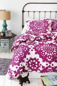 lenjerie pat imprimeu culoarea anului 2014 orhidee radianta sau roz purpuriu