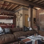 living apartament stil vintage decor caramida