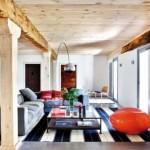 living combinatie stil rustic si modern
