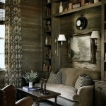 living mic clasic rustic biblioteca pentru carti in jurul canapelei