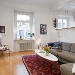 living mic open space apartament stil scandinav