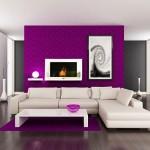 living modern 2014 perete roz purpuriu canapea alba pardoseala wenge