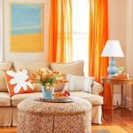 living modern accente decorative portocalii inspiratie primavaratica