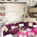living modern cu elemente decorative vintage