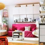 living modern mic biblioteca corpuri modulare perete deasupra canapelei