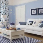 living modern mic maritim amenajat in alb si bleu