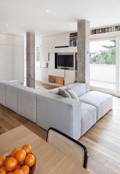 living modern open space decor alb