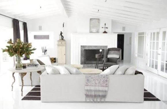 living modern pardoseala epoxidica decorativa alba