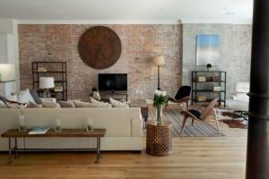 living modern perete caramida nefinisata
