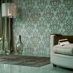 living modern perete finisat cu tapet decorativ de lux marca eijffinger