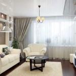 living modern pereti cafeniu deschis si mobila alba fara balcon