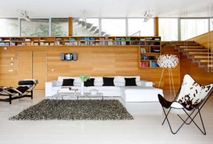 living modern pereti placati parchet laminat
