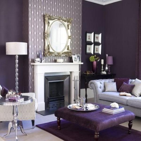living modern rafinat roz purpuriu mov si argintiu