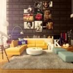 living modern si colorat