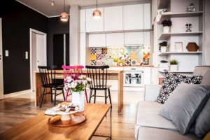 living si bucatarie open space casa moderna tineri adulti