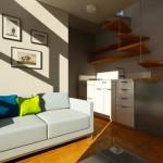 living si bucatarie open space micro casa prefabricata nomad
