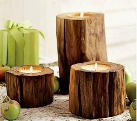 lumanari din lemn