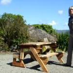 Masa pliabila de picnic care se transforma intr-o bancuta de gradina
