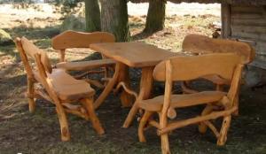 masa scaune lemn