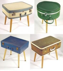 masute de cafea vintage confectionate din valize si geamantane vechi