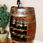 minibar living sau beci din butoi lemn reciclat