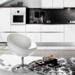 mobila design modern culoare alba bucatarie mansarda open space