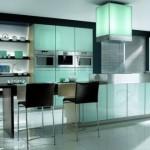 mobila design modern culoare verde bucatarie