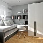 mobila gri camera moderna mica adolescent