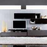 mobila high tech alb negru