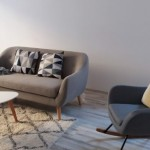 mobila living si fereastra - culoare draperie