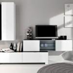 mobila moderna living alb negru