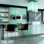 mobila ultramoderna bucatarie culoare bleu