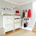 mobilier alb compact pentru holuri mici