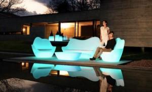 mobilier exterior lumina led