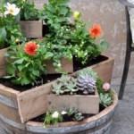 Mobilier de gradina si casa din butoaie de vin