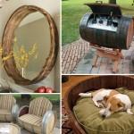 mobilier si decoratiuni casa si gradina din butoaie vechi reciclate