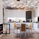 model amenajare bucatarie apartament stil clasic