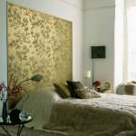 model amenajare dormitor auriu