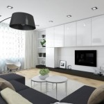 model amenajare sufragerie moderna in alb si negru