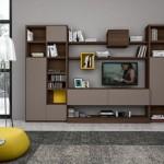 model biblioteca living maro cappuccino si galben