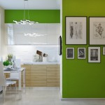 model bucatarie mica apartament mobila lemn cu alb