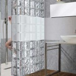 model cabina dus din caramida sticla combinata design modern