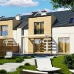 model casa duplex design ultramodern pentru doua familii