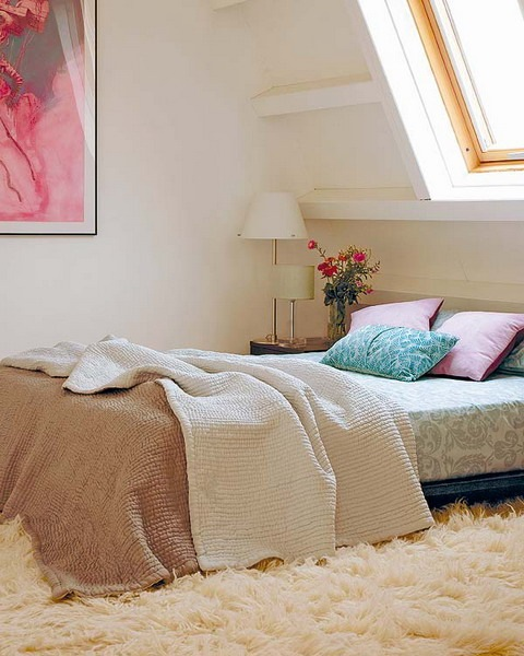 model dormitor mansarda