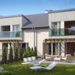 model duplex simetric design minimalist modern parter si etaj