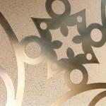 model faianta decorativa decotal din polimer beton si otel inoxidabil