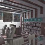 model interior birou arhitect palade
