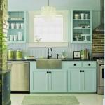 model mobila bucatarie stil retro culoare bleu